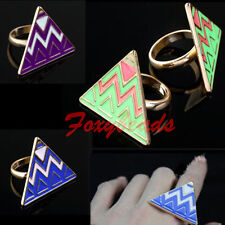 Retro Vintage Punk Pyramid Taper Geometrical Triangle Finger Ring Hot Gift