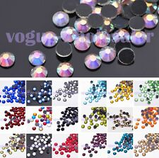 Wholesale Lot 200pcs SS30 6mm Iron-on Hotfix  Crystal Rhinestones Flatback Beads