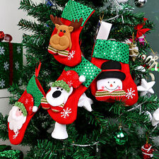Xmas Candy Boots Bag Christmas Tree Decoration Ornaments Stocking Gift
