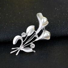 Women Lady Rhinestone Crystal Wedding Bridal Bouquet Flower Brooch Pin Brooches