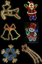 CHRISTMAS LARGE ROPE LIGHT FESTIVE DECORATIONS MULTI COLOUR INDOORS OR OUTDOORS