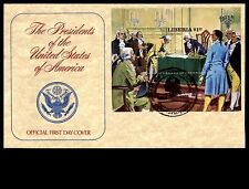 Liberia 1982 Monrovia Us Presidents The Signing Souvenir Sheet First Day Cover