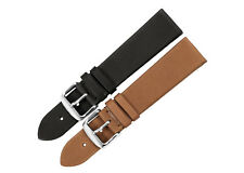 18mm-22mm Genuine CalfSkin Leather Watch Band Sliver Tang Clasp Strap For Tissot