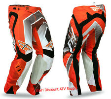 CLEARANCE Fly Racing Evolution Vertigo Pants orange/grey/black 30 32 34 ATV MX