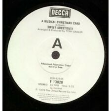 "SWEET SUBSTITUTE A Musical Christmas Card 7"" Promo B/w I Give In (f13820) UK Dec"