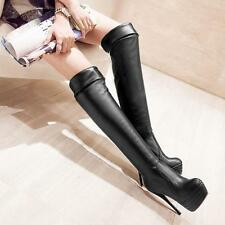Night Sexy Slim Womens Platform Over Knee Leg Thigh High Stiletto Heel Boots Sz