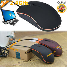 Black USB 3D Wired Optical Mini Mouse For PC Laptop Lenovo Computers Windows