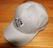 NEW Puma Leaping Cat Logo Stretch Fitted Cap Hat Paisley Pattern Grey/Black *E6