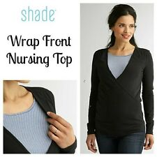 MATERNITY WRAP  NURSING TOP  Interior Tank  Small  BLACK  Invisible Slits Women