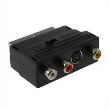 RGB Scart to Composite RCA SVHS S-Video AV TV Audio Cable Adapter D8