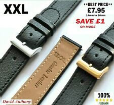XXL. GENTS EXTRA EXTRA LONG REAL LEATHER WATCH STRAPS. 16mm,18mm,20mm,22mm,24mm
