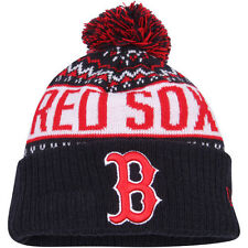 Boston Red Sox New Era Youth Wintry Pom Knit Hat - Navy - MLB