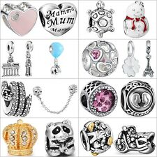 Women 925 Sterling Silver Charms Fine European Beads For Brand Bracelets Chain