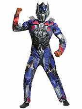Optimus Prime Transformers Movie Deluxe Muscle Superhero Boys Costume