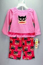 GIRLS 18 24 MONTH SMALL PAUL FRANK PINK CAT HALLOWEEN PAJAMAS NWT