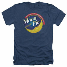 T-Shirts Sizes S-2XL New Mens Moon Pie Current Logo Vintage Heather Tee Shirt