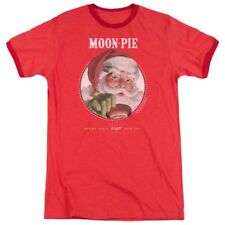 Sizes S-3XL New Authentic Moon Pie Snacks for Santa Retro Ringer T-Shirt Holiday