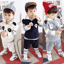 4PCS Kids Baby Boys Outfits Vest+hoodie Tops +shorts +Pants warmth Clothes Set
