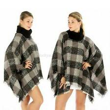 New Womens Batwing Cape Poncho Cardigan Knit V-Neck Sweater Coat Outwear Coat