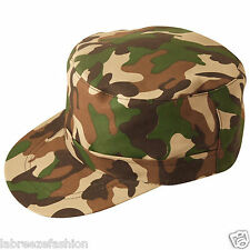 New Unisex Army Camouflage Camo Soldier Hat Fancy Dress Accessory