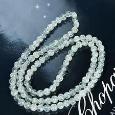 """8mm Crackle Glass Round Loose Beads Strand 32"""" DIY Craft Making Jewelry Findings"""