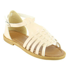 Lucky Top CD88 Children Girl's Cute Ankle Strap Gladiator Flat Dress Sandals
