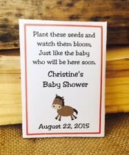 Horse Baby Shower Seed Packets