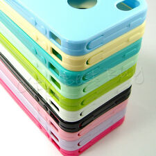 TPU Silicone Multi Color DUST PROOF Soft Skin Cover Phone Case for iPhone 4G LOT