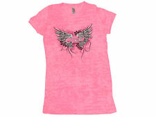 Corvette Juniors Wings Hot Pink T-Shirt