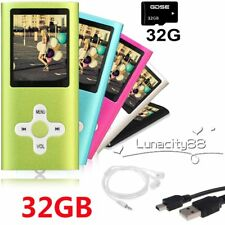 "Portable 32GB Digital MP3 MP4 Player 1.8"" LCD Screen FM Radio Video Games Movie"