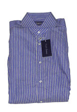 Ralph Lauren Purple Label Italy Mens Striped Keaton French Cuff Dress Shirt 15