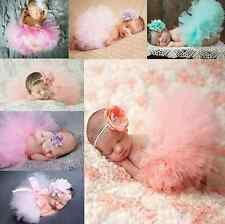 Skirt & Headband Cute Toddler Newborn Baby Girl Tutu Photo Prop Costume Outfit