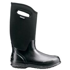 LADIES BOGS CLASSIC HIGH BLACK SMOOTH WARM INSULATED WELLINGTON BOOTS 60155