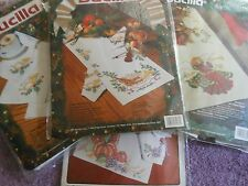 YOUR CHOICE: BUCILLA STAMPED CROSS STITCH/EMBROIDERY KITS TABLERUNNERS / NAPKINS