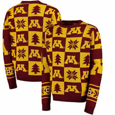Minnesota Golden Gophers Patches Ugly Pullover Sweater - Maroon - NCAA