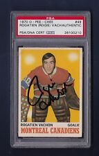 Rogatien Vachon signed Montreal Canadiens 1970 Opee Chee card Psa Authenticated
