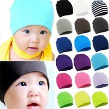 Baby Kid Boy Girl Pure Color Beanie Cap Toddler Infant Children Soft Cotton Hat