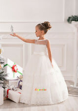Flower Girl Dresses Princess Pageant Wedding Birthday Prom Party Ball fluffy 3-6