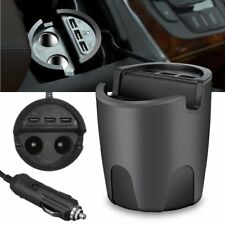 3.1A Dual USB Car Cup Charger 2 Cigarette Lighter DC 12-24V Power Socket Adapter