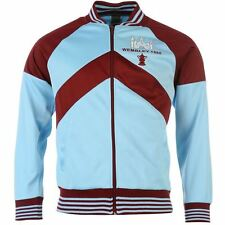 Score Draw Mens Retro West Ham United 1980 Track Jacket Top Running Full Zip