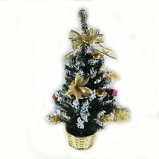 60cm Decorated Christmas Tree Gold Silver or Red Gold