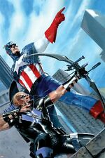 Marvel Captain America and Hawkeye No.629 Cover: Captain America and Haw… Poster