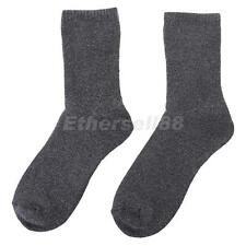 Mens Chunky Cotton Socks Hiking THERMAL WARMTH Winter Work Boot Socks Gray