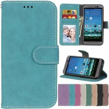 Leather Retro Flip Wallet Cards KickStand Magnetic Case Cover For HTC M8 M9 626S