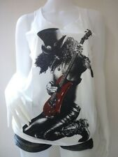 Slash Gun N' Roses Guitar Rock Band Sexy Tank Top Vest T-Shirt Dress Size M , L