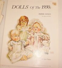 Dolls of the 1930's PAPER DOLL Book Unused