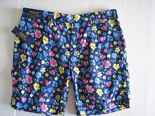 NWT Men's POLO RALPH LAUREN Blackwatch Floral Straight Fit Casual Cotton Shorts