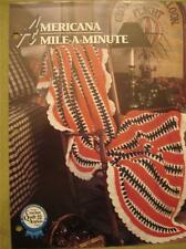 Annie's Annies Attic Crochet Pattern  Afghan ~ Americana Mile-a-Minute