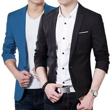 Fashion Mens Casual Formal Slim Fit One Button Wedding Suit Blazer Coat Jackets