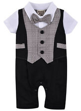 Baby Boys Kids Toddler Gentleman One-piece Romper Jumpsuit Outfit Clothes